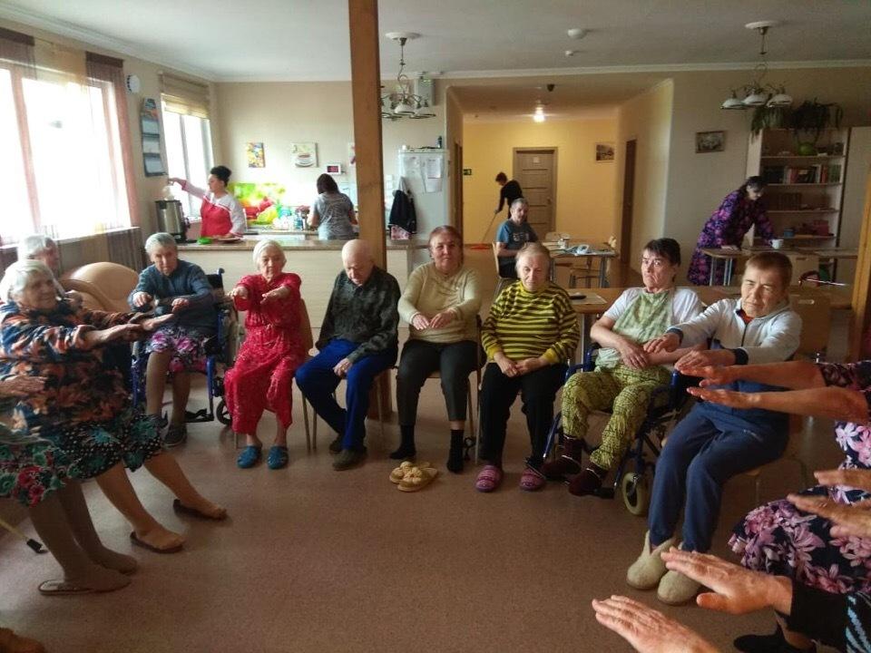 Досуг в пансионате для пожилых